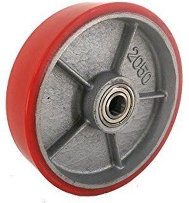 Bánh xe nâng tay 200x50mm chất liệu PU đỏ